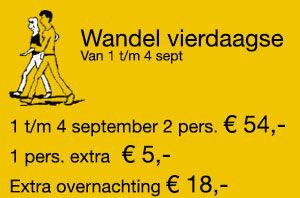 Wandel vierdaagse 1 t/m 4 september 2016
